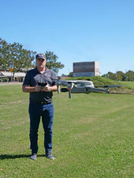 Drone pilot Ken Morrison provides aerial photography in North Carolina